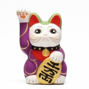 KARAKUSA MANEKI NEKO PURPLE (唐草 招き猫 パープル 紫唐草)|flyers
