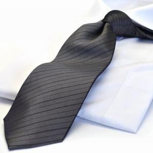 礼装ネクタイ/グレー/フォーマル/法事用 LA-192/シルク100%