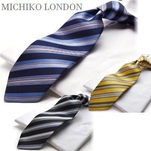【ネクタイ】【ブランド】【MICHIKO LONDON】M-26ストライプ/【日本製】 flyingbluenet