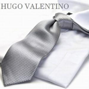 【HUGO VALENTINO】超ロングネクタイ/モノトーン/c-lon-h-101 グレー/シルバー/ブロック柄 flyingbluenet