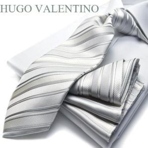 フォーマル/ポケットチーフ&ネクタイ【HUGO VALENTINO】慶事用/礼装結婚式/披露宴/ギフト/プレゼント cpn-63|flyingbluenet