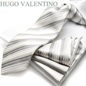 フォーマル/ポケットチーフ&ネクタイ【HUGO VALENTINO】慶事用/礼装結婚式/披露宴/ギフト/プレゼント cpn-71|flyingbluenet