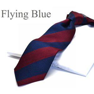 ネクタイ【FLYING BLUE】シルク(100%) flb-201 ストライプ/ネイビー/ワイン|flyingbluenet