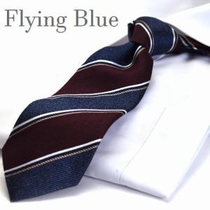 ネクタイ【FLYING BLUE】シルク(90%)/ウール(10%) flb-55|flyingbluenet