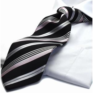 【シルク】100%ネクタイ【MICHIKO LONDON】M-17【日本製】ストライプ|flyingbluenet