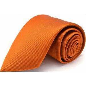 【ハロウィン】【仮装】【コスプレ】<br>オレンジ無地ネクタイ MUK-U-42|flyingbluenet