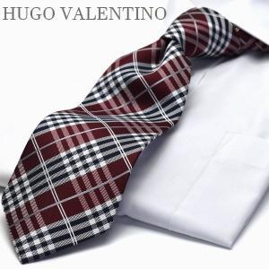 ネクタイ ブランド シルク HUGO VALENTINO T...