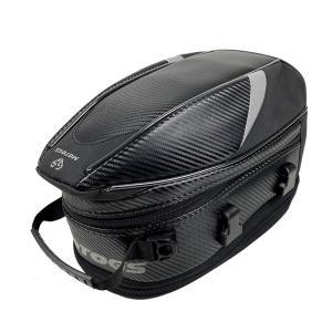 バイク用 オリジナルデザイン 炭素繊維 拡張機能あり 防水 耐久性 タンクバッグ シートバッグ 多用...