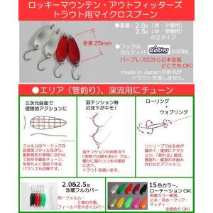 5個セット特売!●ロッキーマウンテンアウトフィッターズ・マイクロスプーン(ルアー&フライ管釣り用)|flymart|02