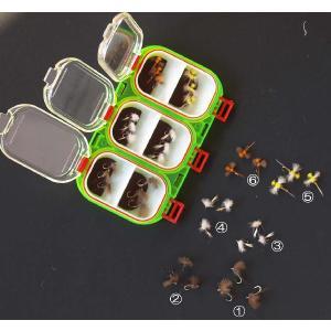 「小型メイフライ・セット」(マグネティック・フライボックス付)(完成品フライ18点)|flymart