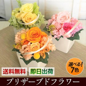プリザーブドフラワー 選べる7色  プレゼント ギフト 花 誕生日プレゼント お祝い 母の日 バラ ...