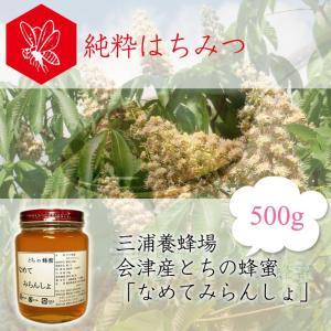 三浦養蜂場 会津産とちの蜂蜜「なめてみらんしょ」500g fmkitakata
