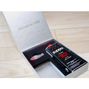 zippo ジッポー ライター プレゼント用ギフトBOX オイル 石付|fnetscom