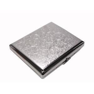 シガレットケース タバコケース アラベスクシルバー 100ミリ 20本用|fnetscom