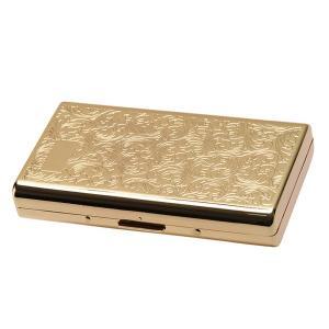シガレットケース タバコケース ゴールドアラベスク スリム 100ミリ ロング用 1-59129-41|fnetscom