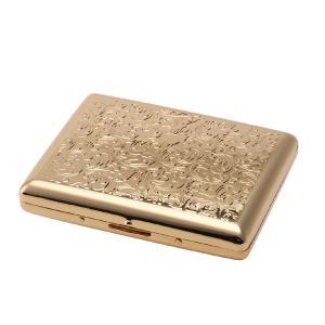 シガレットケース タバコケース ゴールドアラベスク 100ミリ 20本用 ロング 1-92129-41|fnetscom