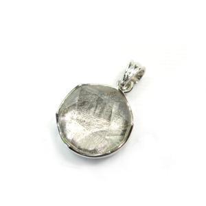 パワーストーン ギベオン隕石 メテオライト 六芒星カット 14mm 鉄隕石 シルバー925 ペンダントトップ|fnetscom