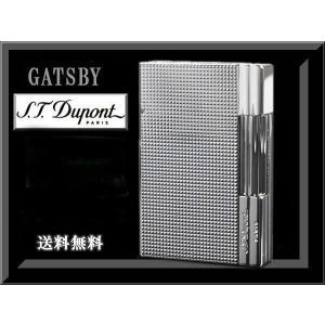 S.T.デュポン S.T.Dupont ライター ギャッツビー18104 日本限定 (ボンベ3本、石8粒付き)|fnetscom