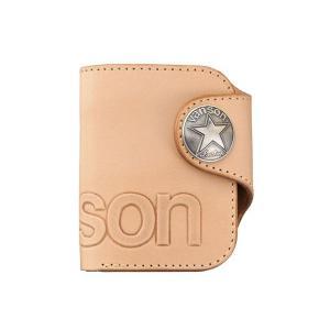バンソン vanson メンズ 折財布 二つ折りウォレットVP-115-02 ナチュラル|fnetscom