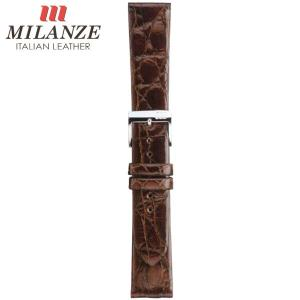 時計バンド 時計ベルト ミランツェ MILANZE 紳士用 クロコダイル サイド WR 茶 時計際幅19mm 美錠幅16mm 商品コード3275 3|fnetscom