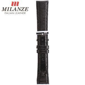 時計バンド 時計ベルト ミランツェ MILANZE 紳士用 トカゲ TH 黒 時計際幅19mm 美錠幅16mm 商品コード3281 8|fnetscom