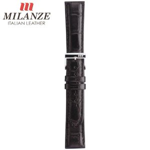 時計バンド 時計ベルト ミランツェ MILANZE 型押クロコ VH 黒 時計際幅22mm 美錠幅18mm 商品コード3599 4|fnetscom