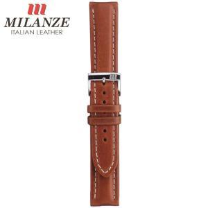 時計バンド 時計ベルト ミランツェ MILANZE カーフ CH 茶 時計際幅22mm 美錠幅18mm 商品コード3640 9|fnetscom