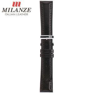 時計バンド 時計ベルト ミランツェ MILANZE 紳士用 カーフ CM 黒 時計際幅20mm 美錠幅16mm 商品コード3457 9|fnetscom