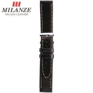 時計バンド 時計ベルト ミランツェ MILANZE 紳士用 カーフ CM 黒 時計際幅20mm 美錠幅18mm 商品コード3529 1|fnetscom