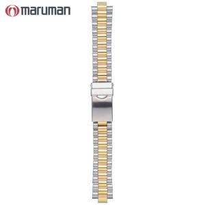 時計バンド 時計ベルト マルマン maruman 紳士用 金属バンド ブロックスタイプ 時計際幅18mm 商品コード5647 3|fnetscom