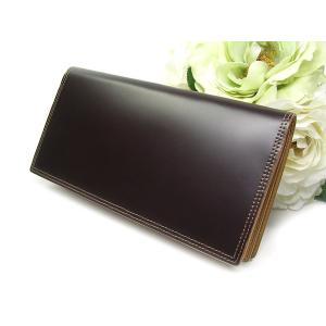 財布 メンズ コードバン 長財布チョコ CO-1|fnetscom