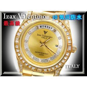 IzaxValentino アイザックバレンチノ 腕時計 男性 ステンレス クォーツ 時計 IVG-1000-1 金 ゴールド メンズ|fnetscom
