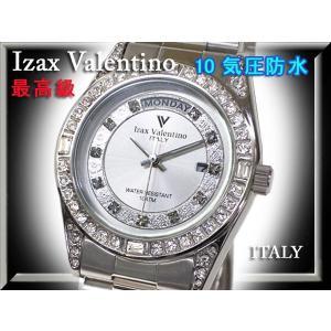IzaxValentino アイザックバレンチノ 腕時計 男性 ステンレス クォーツ 時計 IVG-1000-5 銀 シルバー 文字盤白 メンズ|fnetscom
