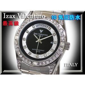 IzaxValentino アイザックバレンチノ 腕時計 男性 ステンレス クォーツ 時計 IVG-1000-6 銀 シルバー 文字盤黒 メンズ|fnetscom