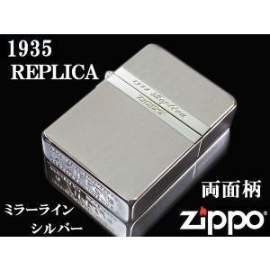 zippo ライター ジッポー1935 復刻版 レプリカ Mirror Line ミラーライン SV シルバー NEW1935ZIPPO|fnetscom