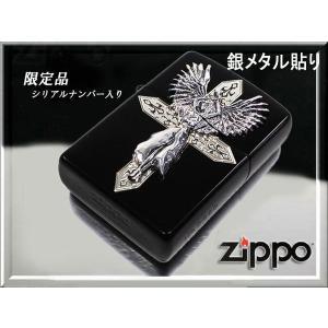 zippo ジッポー ライター 限定シリアルナンバー入り ハードメタル エンジェル 黒ブラック|fnetscom