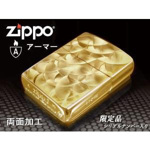 zippoライター 限定 アーマー ランダムロール GD ゴールド 金 両面加工 シリアルナンバー入り|fnetscom