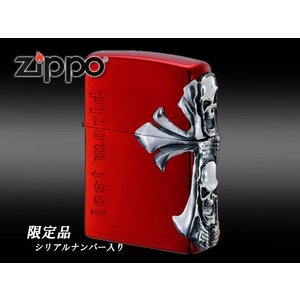 zippoライター 限定品 RED SKULL(レッドスカル)ジッポー CR|fnetscom