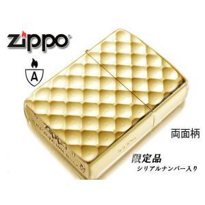 ジッポ ジッポー ZIPPO zippo ライター アーマー 限定シリアルナンバー入り 162ディンプルカットGD ゴールド