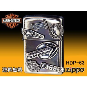 zippo ライター ジッポー HARLEY-DAVIDSON ハーレーダビットソン メイクメタル HDP-63|fnetscom