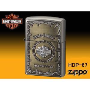 zippo ジッポー ライター HARLEY-DAVIDSON ハーレーダビットソン Sメタル バー&シールド HDP-67|fnetscom