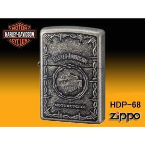 zippo ジッポー ライター HARLEY-DAVIDSON ハーレーダビットソン Sメタル バー&シールド HDP-68|fnetscom