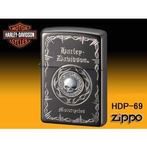 zippo ジッポー ライター HARLEY-DAVIDSON ハーレーダビットソン Sメタル スカル HDP-69|fnetscom