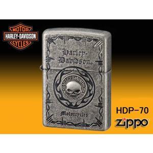 zippo ジッポー ライター HARLEY-DAVIDSON ハーレーダビットソン Sメタル スカル HDP-70|fnetscom