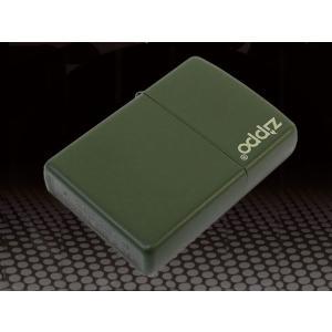 zippo ジッポー ライター ロゴ入り マットシリーズ グリーン 221ZL|fnetscom