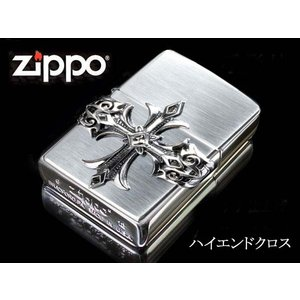 zippo ジッポー ライター レギュラー ハイエンドクロス 銀燻し シルバー メタル スクエアスワロ fnetscom
