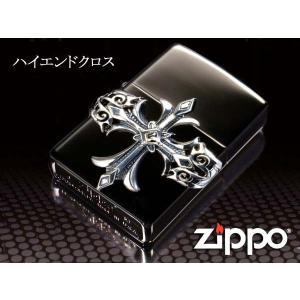 zippo ジッポー ライター レギュラー ハイエンドクロス 黒 ニッケルミラー シルバーメタル スクエアスワロ|fnetscom