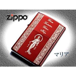 zippo ジッポー ライター レギュラー スピリッツオブレッド 聖母マリア 赤|fnetscom