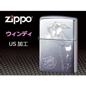 zippo ジッポー ライター レギュラー US加工 Windy ウィンディ 1 シルバー クローム|fnetscom