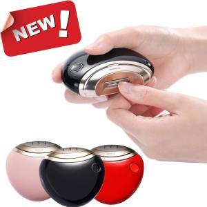 電動爪切り 自動爪切り 爪磨き 爪ケア USB充電式 二段階スピード コンパクト 安心/安全 電動爪切り 日本語取扱書付き(ブラック)